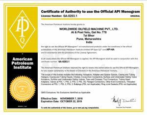 WOM API 6A-0203 India