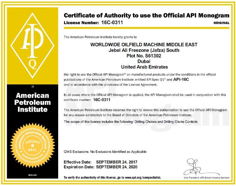 Certificate-16C-0311