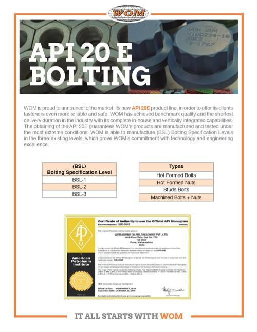 WOM API Bolting Brochure
